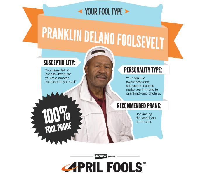 Above Ground Fool - Groupon Present April Fools™