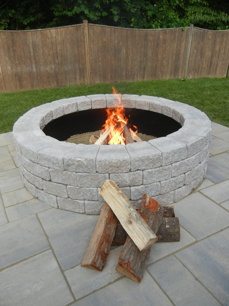 half off outdoor fire pit kit at unilock unilock groupon
