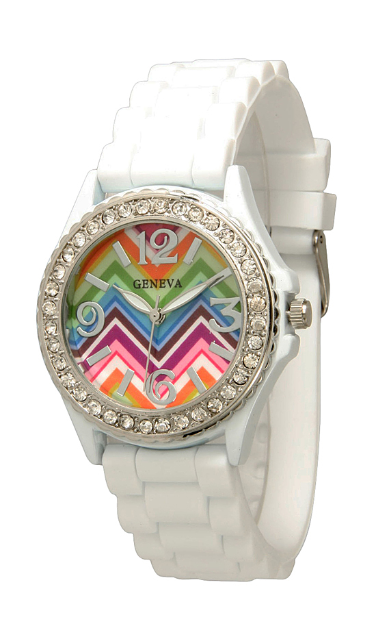Geneva Women S Chevron Print Watches