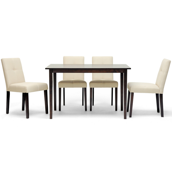 gg baxton studio 5 piece modern dining set 2. $329 for a baxton studio elsa beige five-piece modern dining set ($657 list price) gg 5 piece 2 1