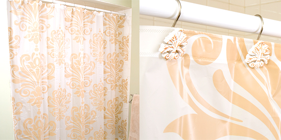 Home Dynamix Damask Shower Curtains