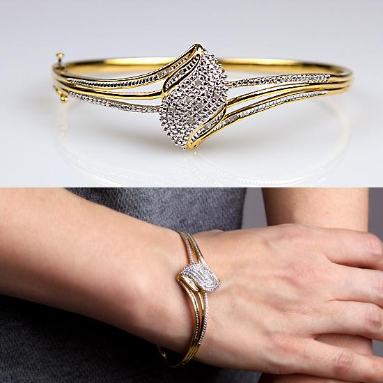 59 for a 14karat gold over sterling silver diamond bangle bracelet ba0498vj00 list price