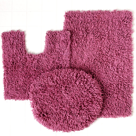 Awesome Home Weavers Luxury Shag Bath Rug Sets