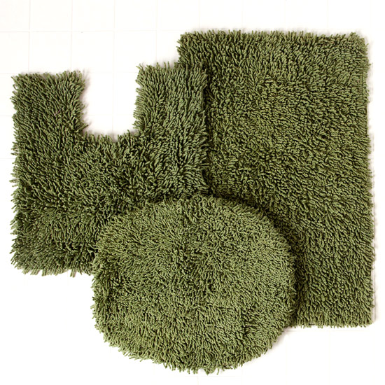 New Home Weavers Luxury Shag Bath Rug Sets