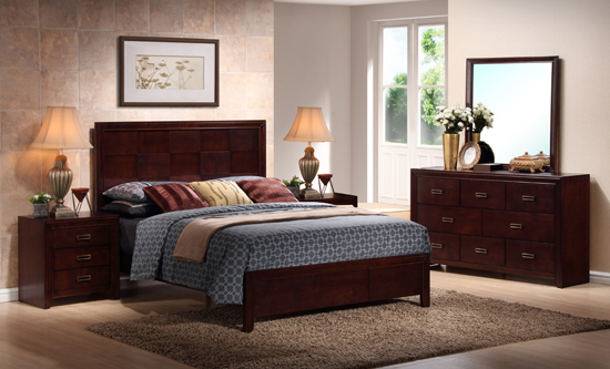 modern queen bedroom sets.  999 99 for Trowbridge Cherry 5 Piece Modern Bedroom Set Queen Size 1 638 List Price