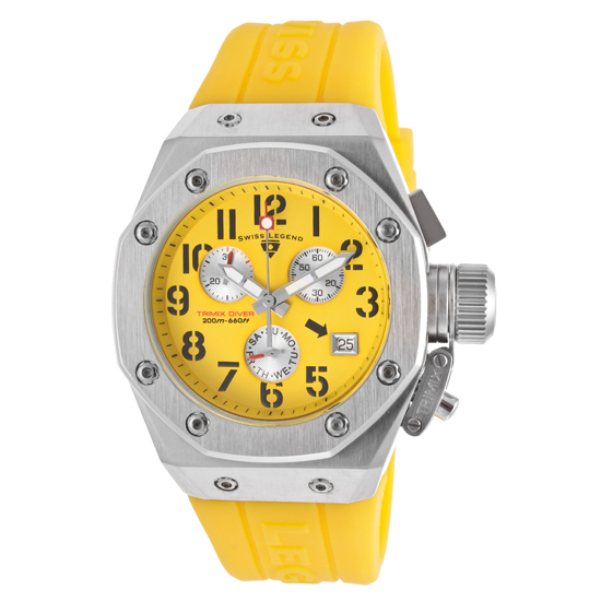 Swiss Legend Tri Mix Yellow : Women s trimix diver watch