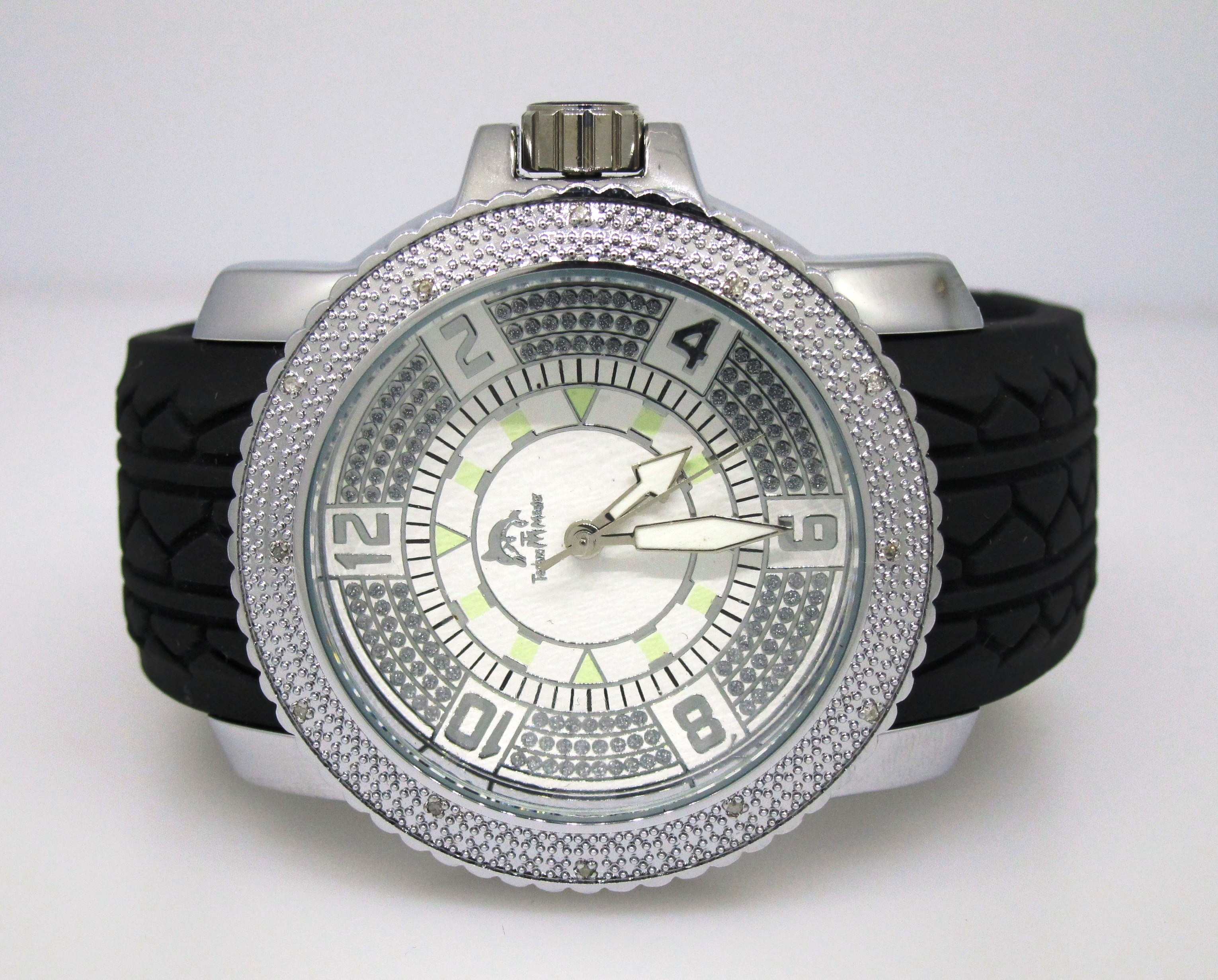 mens watches watch diamond gray fiber ctw dial carbon prince collection