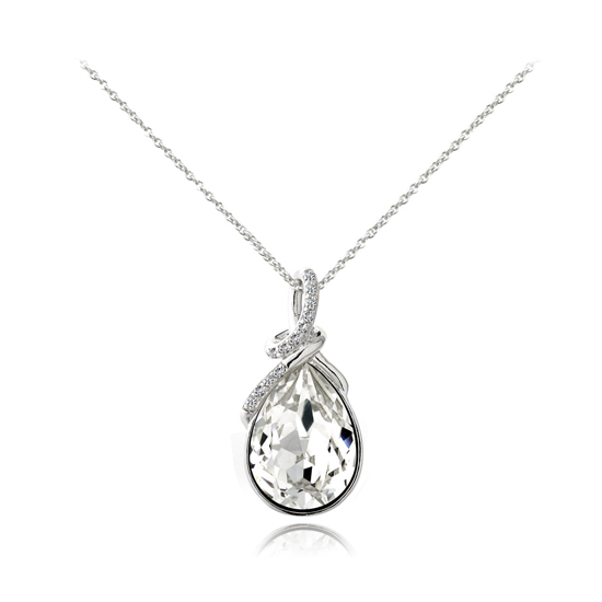 Sterling silver teardrop necklaces sterling silver eternal teardrop necklace with 12 cubic zirconia amethyst aloadofball Image collections