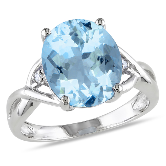 jewelry sky size blue and dp for diamond ring rings concave cushion sterling com silver women topaz amazon cut