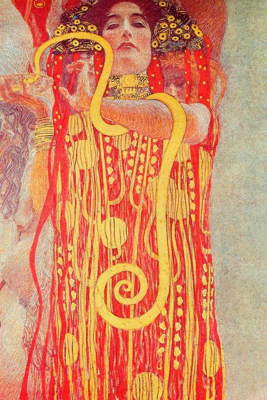 Gustav Klimt Prints on Gallery Wrapped Canvas: Medicine