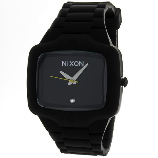 nixon men s and women s watches 115 99 for nixon men s rubber player watch black band black face a139 000 180 list price