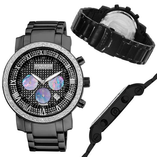 akribos xxiv men s and women s watches 99 for akribos xxiv men s watch diamond accented black chronograph bracelet 725 list price