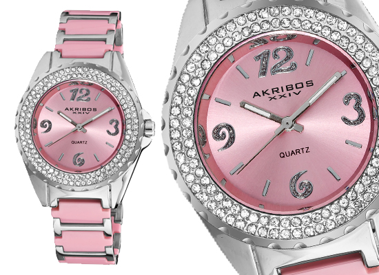 watches series analog other pixie light dial q s white watch women children pink