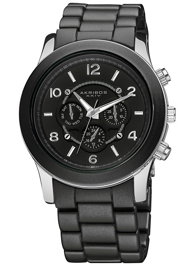 Womens Watches Silver Tone Watch Black/silver-tone