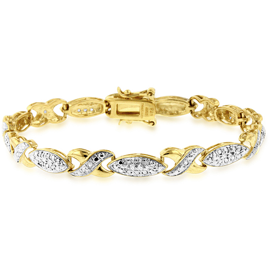 Gold Plated Diamond Accent Bracelets