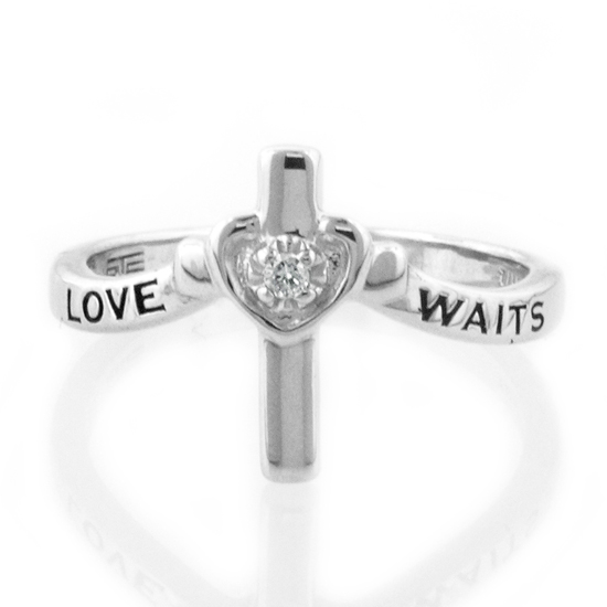 sterling silver and purity ring