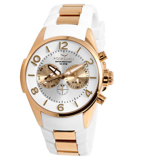 aquaswiss men s trax five hand watch aquaswiss men s trax 5 hand watch white rose gold tr805063