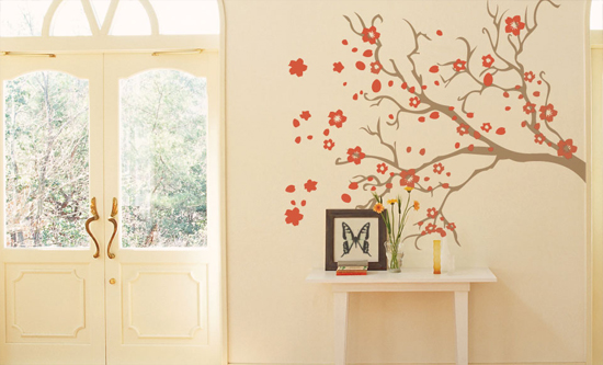 Vinyl Wall Decals - Light orange bedroom walls