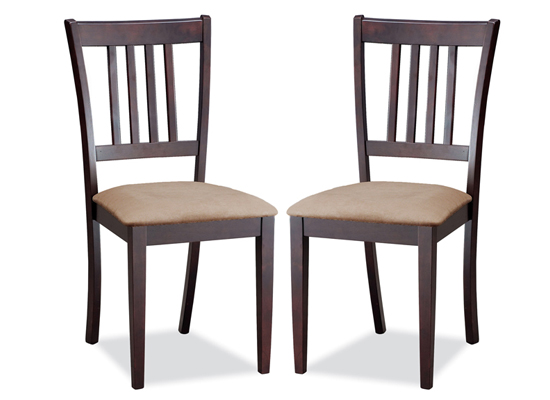 Baxton studio modern dining chairs for 2 dining room chairs