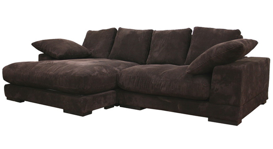 Brown Sectional Sofa with Chaise 550 x 300