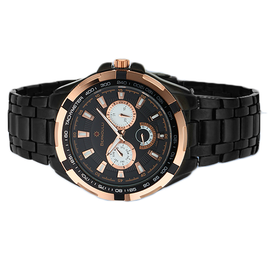 bernoulli men s and women s watches 34 99 for a men s ara black rose gold watch 62620733 789 list price