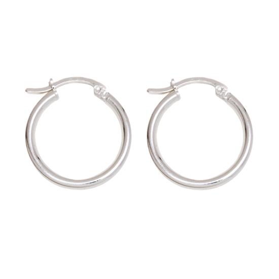sterling silver hoop earrings. Black Bedroom Furniture Sets. Home Design Ideas