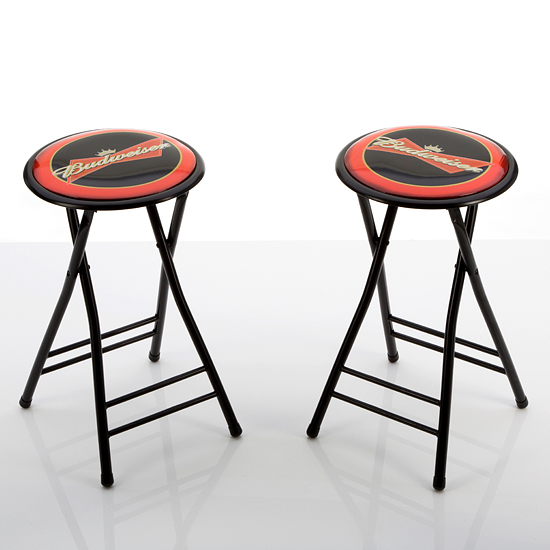 Beverage Branded Padded Barstools : 886511153967Budweiser24InchCushionedFoldingStool from www.groupon.com size 550 x 550 jpeg 129kB