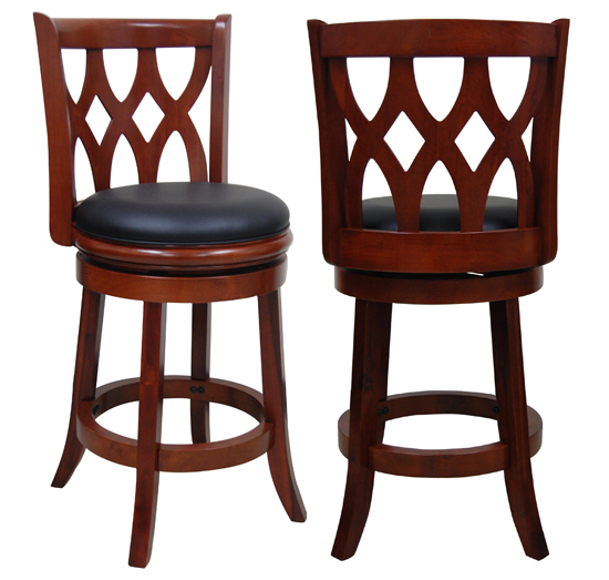 $79.99 for 24' Kathedra Swivel Stool- Cherry ($179 List Price)