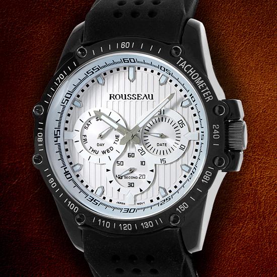 rousseau watches 34 99 for rousseau men s watch baer black white w black bezel 62620531 680 list price
