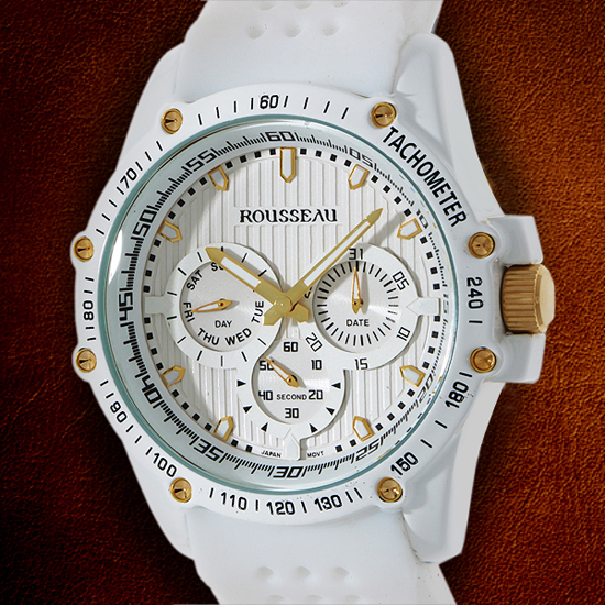 rousseau watches 34 99 for rousseau men s watch baer white gold w white bezel 62620532 680 list price