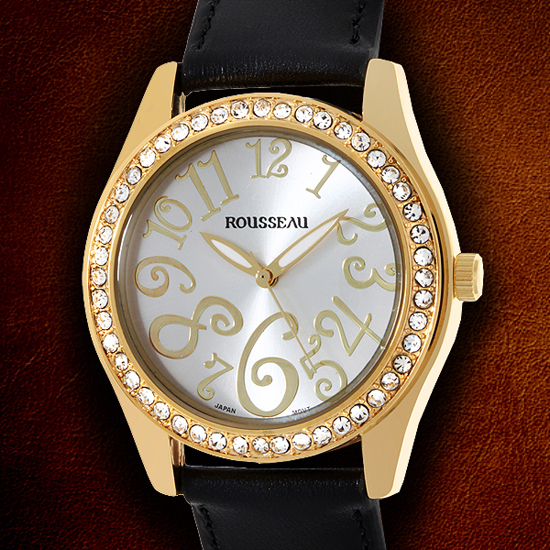 rousseau watches 24 99 for rousseau women s watch calame gold black w gold tone bezel 62620753 590 list price