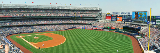 Great Yankee Stadium Wall Mural Terrace Level View Part 3