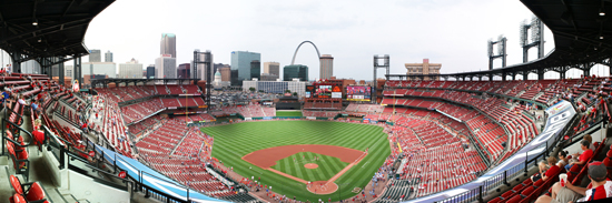 Mlb stadium gallery wrapped canvas prints for Busch stadium wall mural