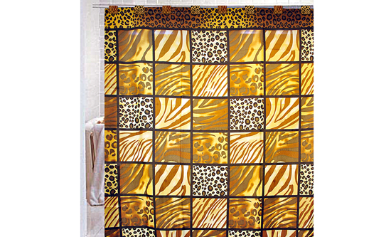 Fabric Shower Curtains with Shower Hooks