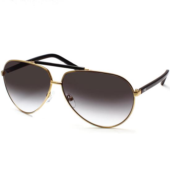 Aviator Sunglasses Gold Frame Black Lens : AQS Sunglasses