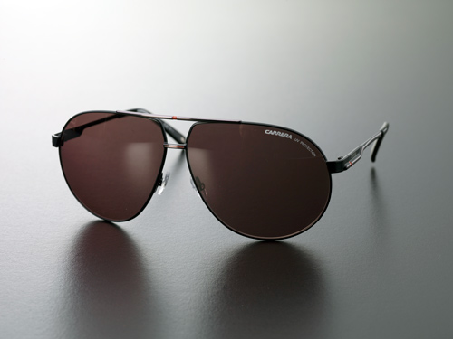 matte black aviators  Carrera Unisex Aviator Sunglasses