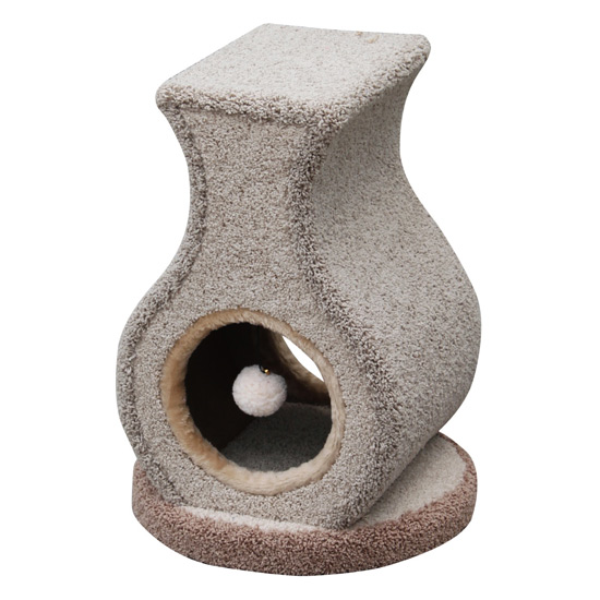 cat tree with peeking hole and teasers pet lover heated cat house ...
