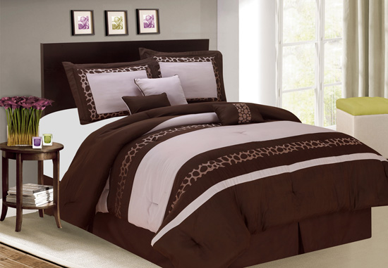 Luxury bedding seven piece comforter set for City chic bedding home goods
