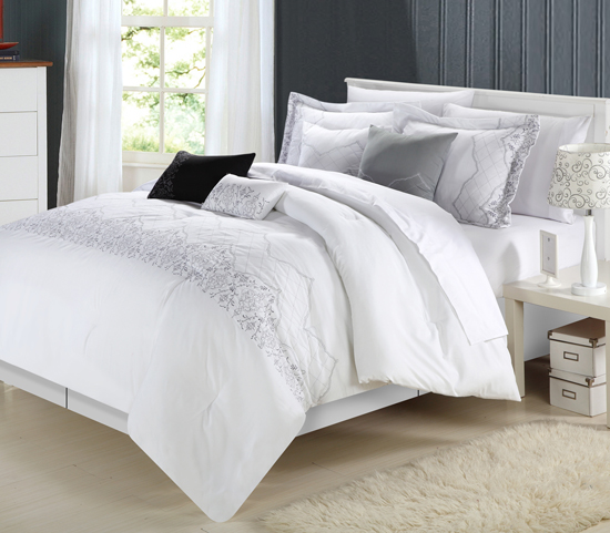 Kam home 8 piece comforter sets for Housse de couette sarah kay