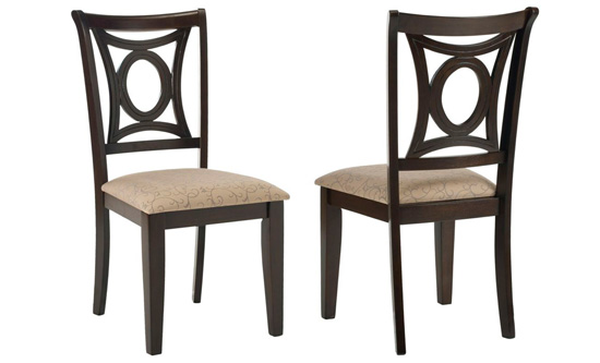 set of two dining side chairs