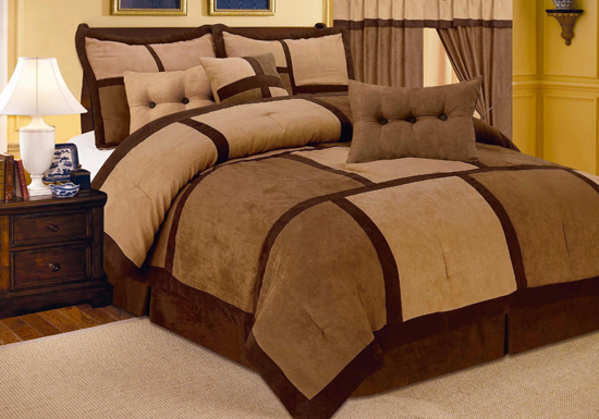 7 piece microsuede comforter sets for City chic bedding home goods