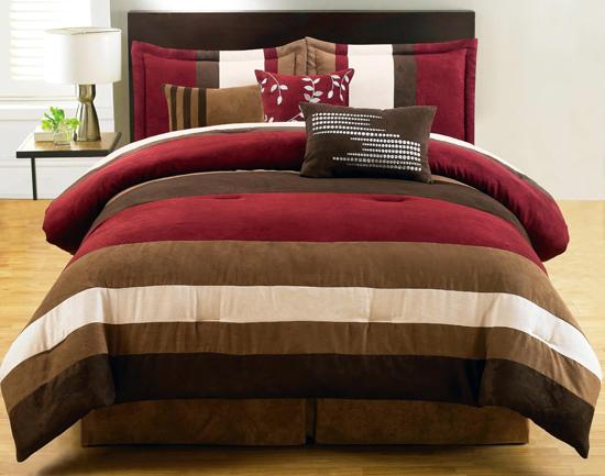 7 Piece Microsuede Comforter Sets