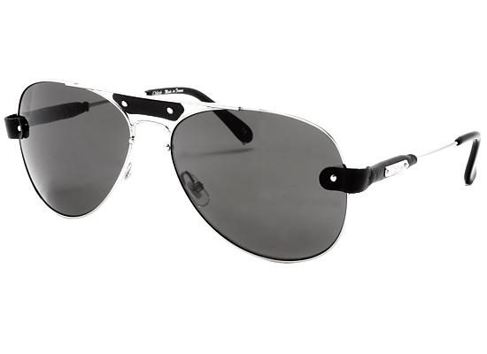 93b7fbfba573 Chloe Unisex Sunglasses  Silver-Black Metal Frame Gray Lens  (CL2204-C01-61-15-135F) ( 355 List Price)