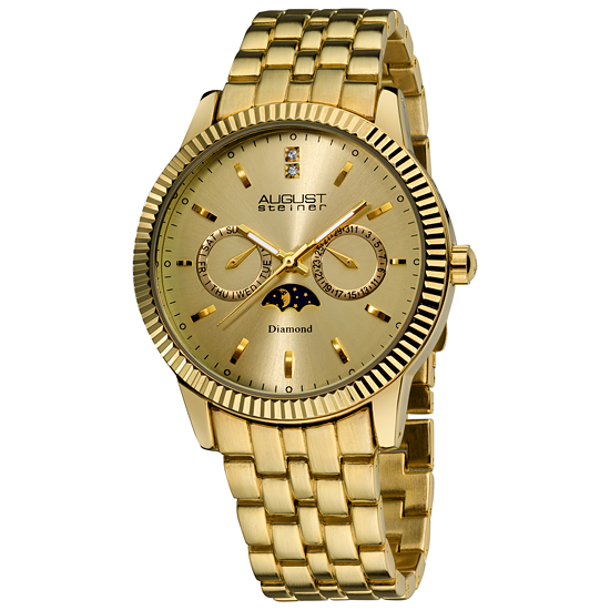 steiner men s and women s watches 59 for men s steiner watch gold tone steel band gold dial as8050yg 345 list price