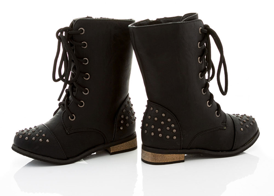 Coco Jumbo Girls' and Toddler Combat Boots