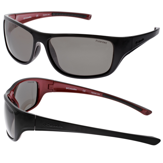 sunglasses with polarized lenses 2lhm  Columbia Women's Sunglasses: Shoofly/Black-Red Plastic Frame/Gray Polarized  Lens HOOFLY-PZ602-58