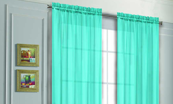 Voile Sheer Curtain Panels