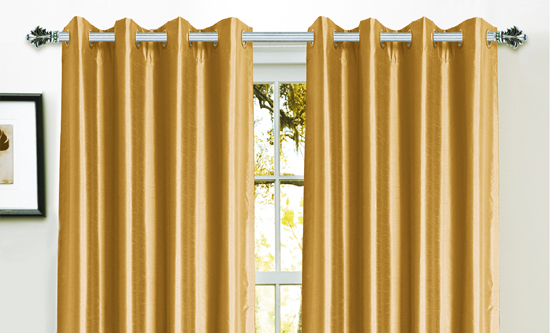 Bella Luna Faux Silk Blackout Curtain Panels