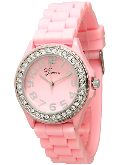 s watches hot number band pages watch women silicone product pink embellished womens geneva gg dial crystal