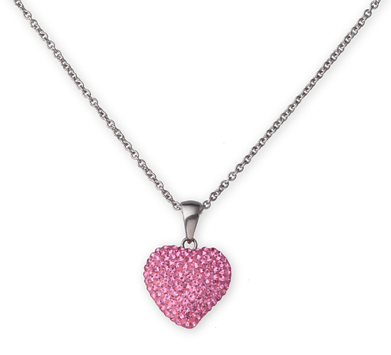 Jacmel crystalogy stainless steel jewelry 15 for ss pink crystal heart pendant chain c600105rp mfs 4995 list price aloadofball Gallery